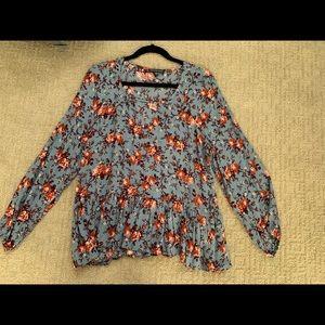 NWOT American Eagle long sleeve floral blouse